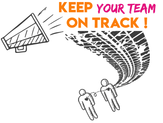 Keep on track graphic